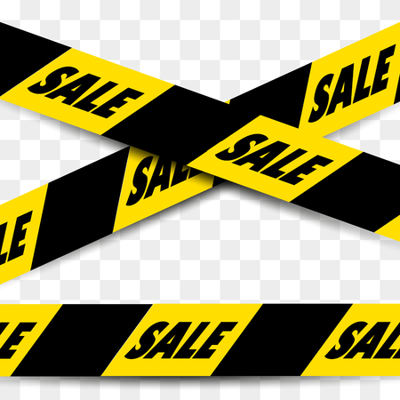 black and yellow: Black - Yellow seamless sale tape with text SALE