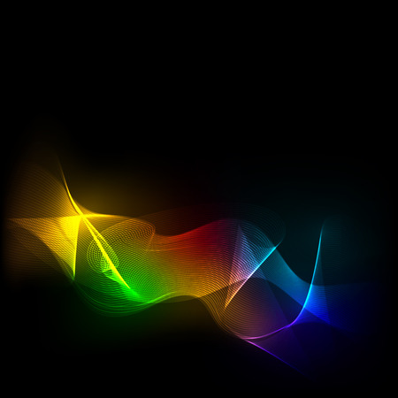 lila: colorful shining waves on dark background