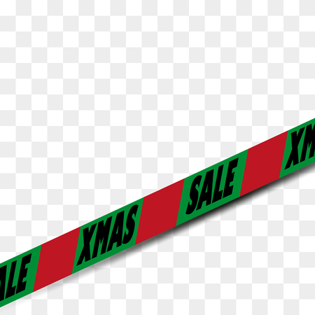 insertion: Single seamless Attention danger SALE tape in christmas colors Illustration