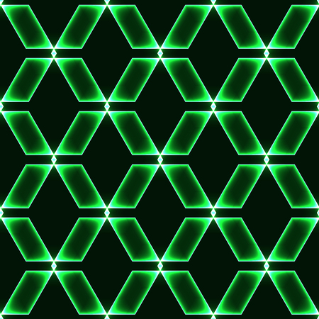 shinning: green dark seamless background with shinning glass diamonds  gems  stones  crystals in regular grid