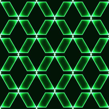 green dark seamless background with shinning glass diamonds  gems  stones  crystals in regular grid