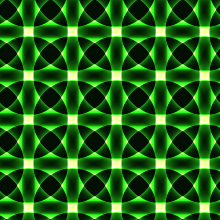 Green transparent circles in regular order - flower pattern - semaless background