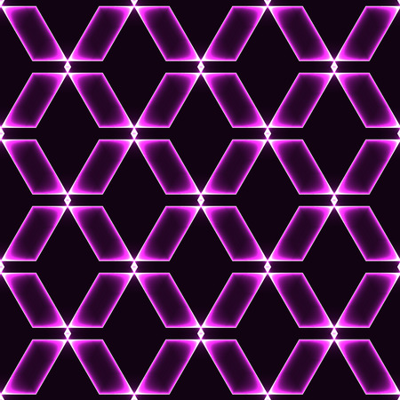 shinning: Purple  pink  dark seamless background with shinning glass diamonds  gems  stones  crystals in regular grid