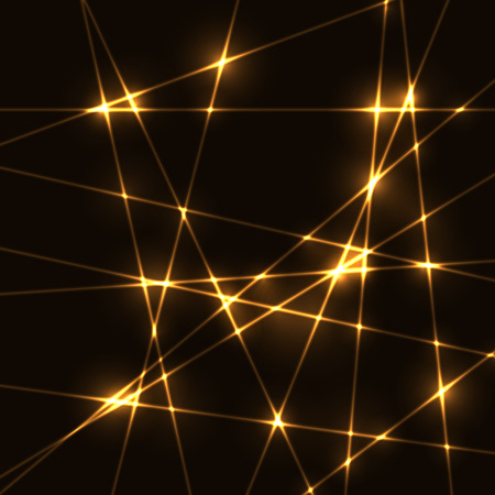 beams: Gold random laser beams on dark background - template