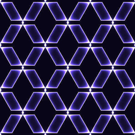 shinning: Blue  violet dark seamless background with shinning glass diamonds  gems  stones  crystals in regular grid