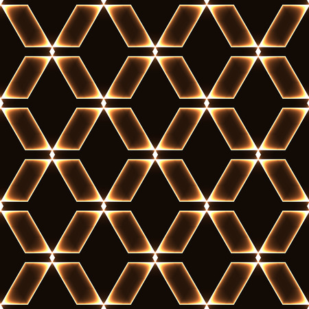 shinning: Golden dark seamless background with shinning glass diamonds  gems  stones  crystals in regular grid