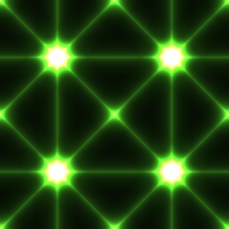 Dark seamless background with shine glow laser green conected points