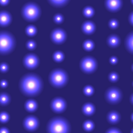 shinning: Blue or violet seamless background with LED lights in line. Seamless background with chain of shinning stars