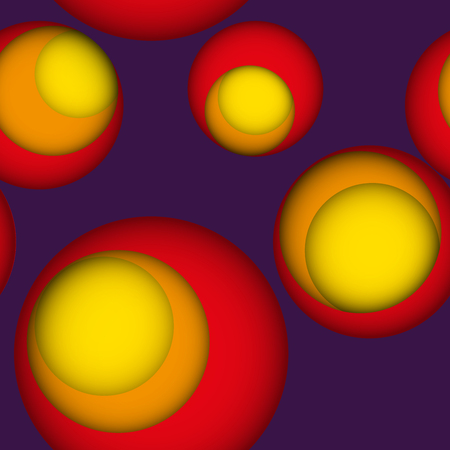 gaps: Seamless leaky background in bright colors with gaps or holes to another layer with shadows. Violet seamless background with holes to red, orange and yellow layer.