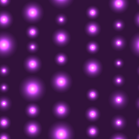 shinning: Purple or violet seamless background with LED lights in line. Seamless background with chain of shinning stars