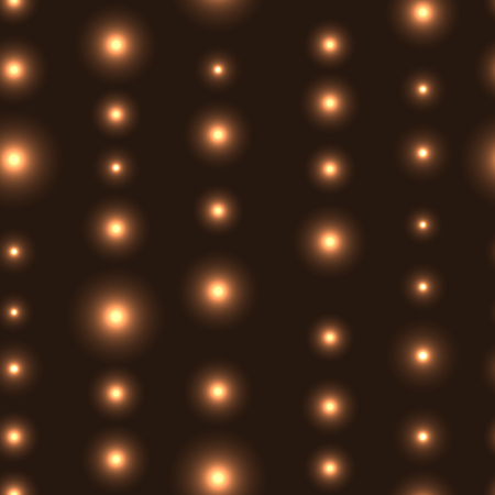 shinning: Gold  seamless background with LED lights in line. Seamless background with chain of shinning stars