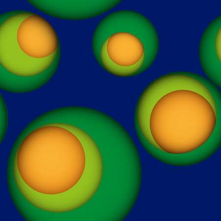 gaps: Seamless leaky background in bright colors with gaps or holes to another layer with shadows. Blue seamless background with holes to green and yellow layers. Illustration
