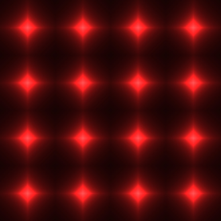 shinning: Red seamless patterm made from shinning cross. Dark seamless background with red glowing points. Red wall of floor made from tiles. Red laser safety grid or net.