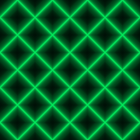 Green shinig grid. Seamless background  with bright laser lines connected to net in green colors. Green shining grid.