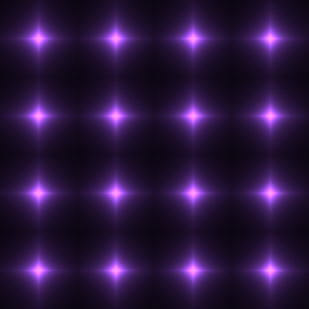 safety net: Violet seamless patterm made from shinning cross. Dark seamless background with lilac glowing points. Purple wall of floor made from tiles. Violet laser safety grid or net.