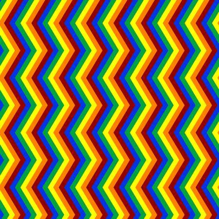 Zig-zag seamless pattern in very bright colors. Shiny patern with simple or basic colors. Very bright palette of colors in seamless backround. Illustration