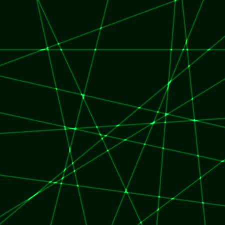Black background with green laser rays.Very dark background with green krypton laser rays
