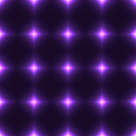 shinning: Violet seamless patterm made from shinning cross. Dark seamless background with lilac glowing points. Purple wall of floor made from tiles. Lilac laser safety grid or net. Illustration