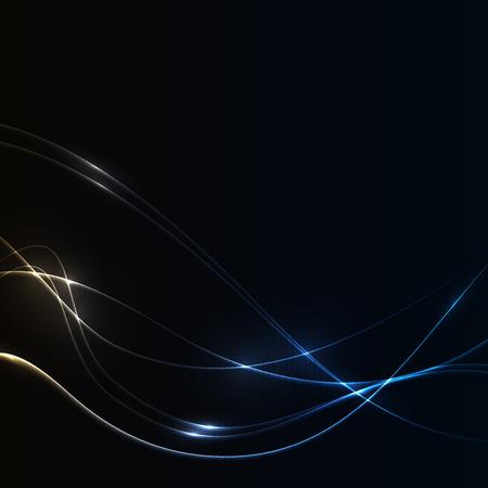 shine background: Dark background with cold laser shine glow neon waves.