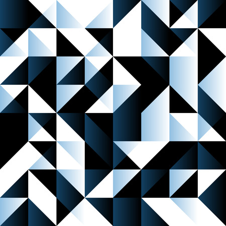 systematic: Blue seamless background with geometric shapes. Low polygon seamless pattern in blue colors. Triangle mosaic with dark blue white and black colors. Illustration