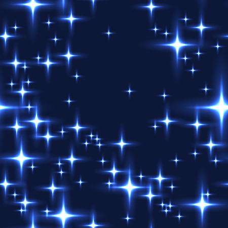milkyway: Blue seamless background with shining stars. Simple seamless pattern with lot of stars on night sky. Midnight sky full of stars with milky-way