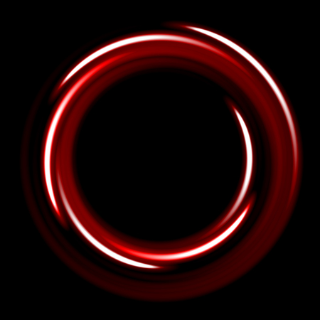 Dark template with hot circles spirals. red shinning rings on dakr background. Dark template with red circles with place for your text.
