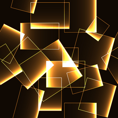 shinning: Seamless pattern with golden shinning glowing rectangles with gradient.