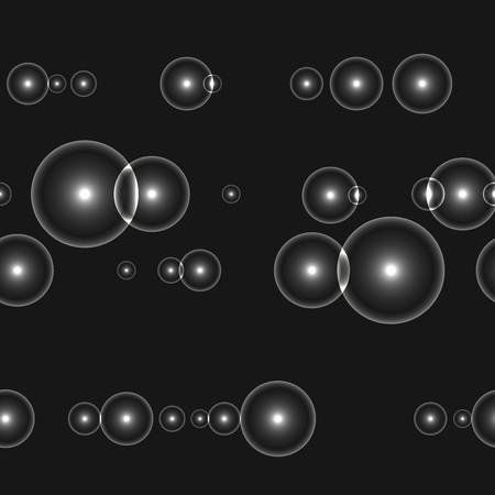 shinning: Dark seamless background with shinning white circles and points.