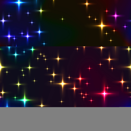 rainbow seamless background with shining stars. Illustration