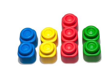 child s block: Plastic building blocks, istructive toy for children