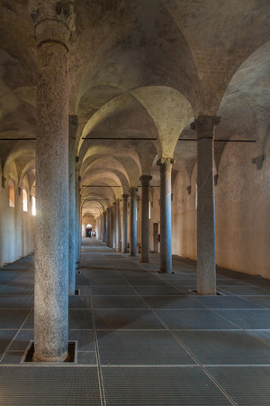 existed: Ancient Stables, designed by Leonardo da Vinci, in Vigevano, Italy Editorial