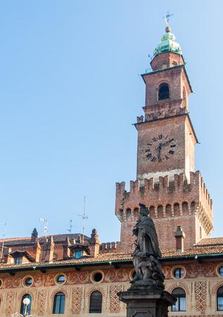 strives: The Bramante clock tower in the Visconti-Sforza castle of Vigevano