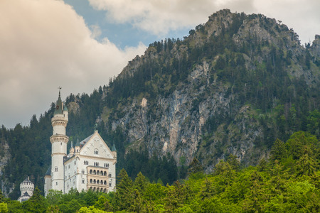 schwangau: Neuschwanstein Castle in the Bavarian Alps, near Fussen-Schwangau