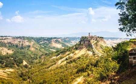 Open View Of Civita Di Bagnoreggio, Italy Stock Photo, Picture And ...