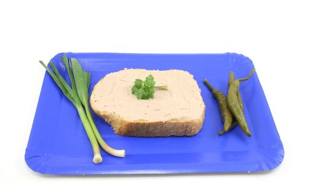 served: bread and meta paste
