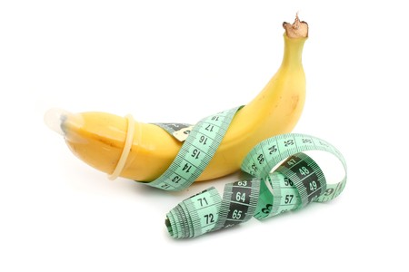 metering: banana with condom and meter