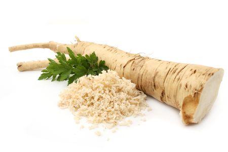 grooved: horseradish Stock Photo