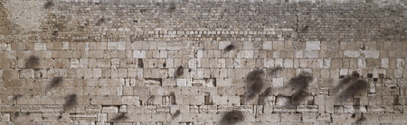 Western Wall or Wailing Wall, old city of Jerusalem, Israel - background. Stockfoto
