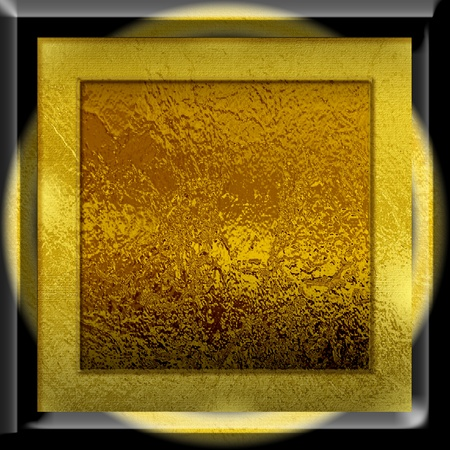 Glossy gold square  texture with flood-light for background or wall material Stock Photo - 8347410