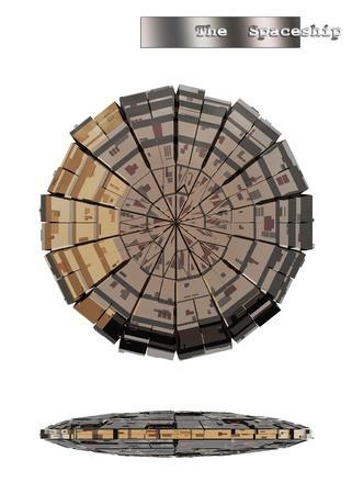 interstellar: Interstellar space ship Stock Photo