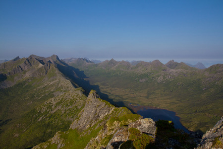 vastness: Beautiful landscape from bird view with some mountain ridge