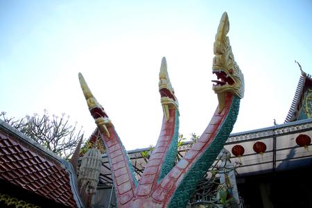 triple: Triple Head Naga Stock Photo