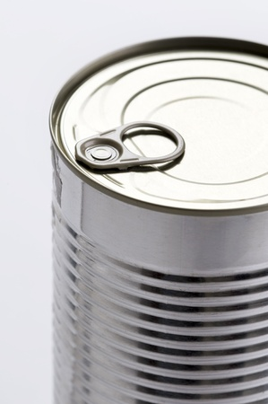 can food: a metal food tin can with a ring pull top