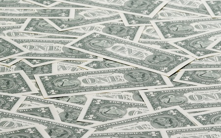 american dollar: a carpet of american one dollar bills Stock Photo