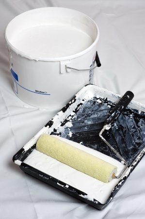 painting and decorating: paint and roller