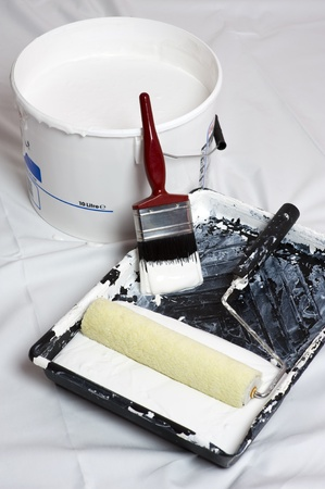 roller brush: paint brush and roller for decoration