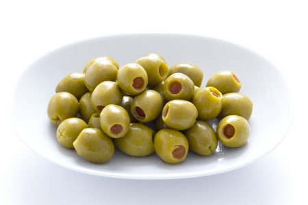 pimento: green olives stuffed with pimento
