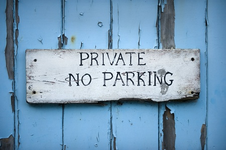 no parking: hand painted no parking sign