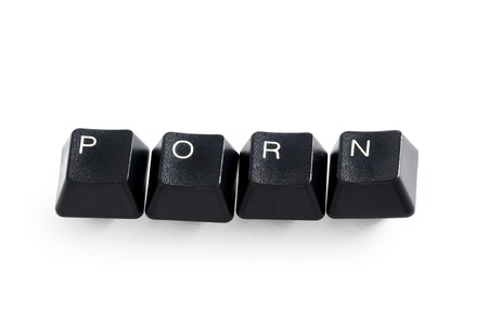 computer keys spelling porn Stock Photo - 13565551