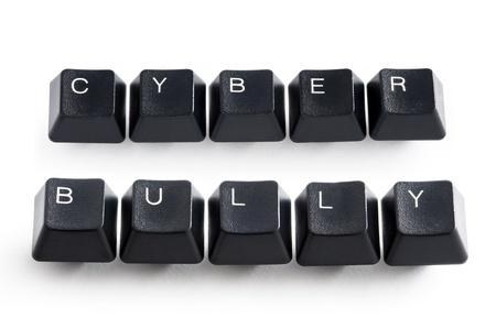 Computer-Tasten Rechtschreibung Cyber-Mobbing Lizenzfreie Bilder